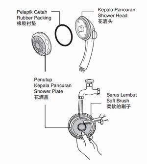 Parts Of A Shower Head Jafari Ghola